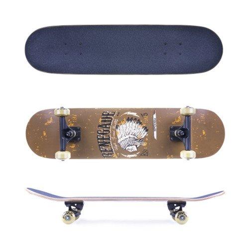 Spokey Unisex Renegade Skateboard aus kanadischem Ahorn, Mehrfarbig, one Size - Ahorn Roll