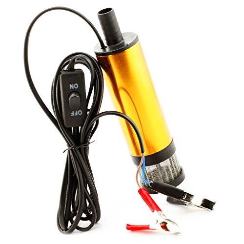 Preisvergleich Produktbild 12V Qualität Tauchpumpe Transferpumpe Diesel-Öl Wasser Heizöl Pumpe Gold