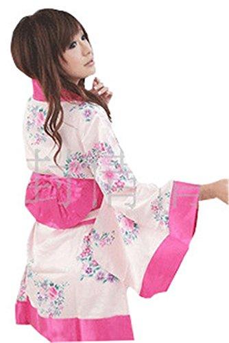 AP5INPPX8VXBU Damen Reizvoll Japan Kimono Reizwäsche Nachtkleid Unterwäsche Dessous (Weiß)