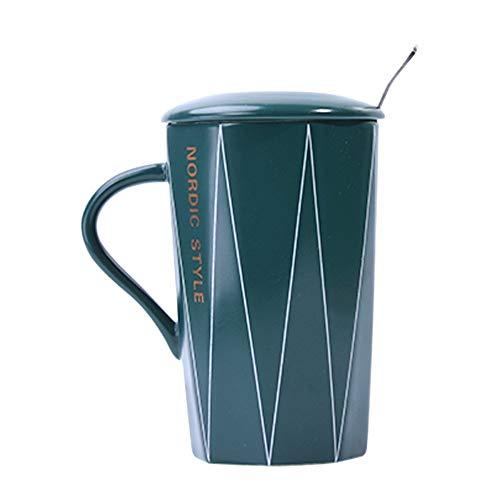 Jhtadva Nordic kreativer Trend-Persönlichkeitsbecher, dunkelgrün, Line-Cup Catering Line