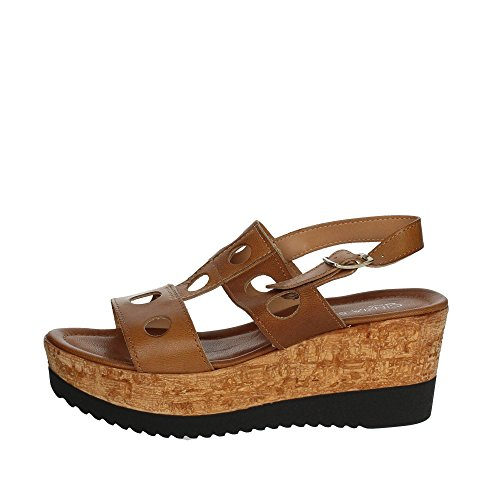 Iaf Wu0dxaaqt 2836 Marron 001 Sandale Soft Cuir Femme Cinzia 28t PY1z5wq