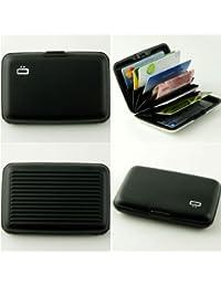 Porte-cartes en aluminium Noir Ögon designs Authentique Technologie RFID