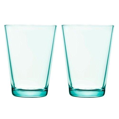 Iittala 1008633 Kartio Glas 40 cl, 2 Stück, wassergrün