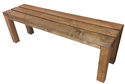 Gartenbank Sitzbank Holzbank terrassenmobel parkbank gartenmobel für Innen und Außen geeignet 100x38.5x50 cm. Nach Maß verfügbar! von total wood 2012 auf Gartenmöbel von Du und Dein Garten