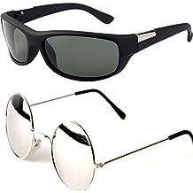 Y&S Aviator Men's Sunglasses -(55 Black & Brown)