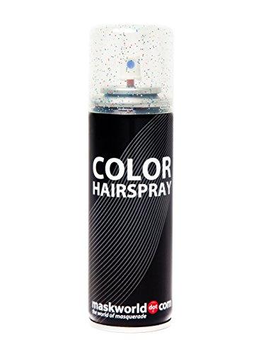 maskworld Glitzer Color Hairspray - farbiges Glitter Haarspray bunt Glitterspray (Mehrfarbig)