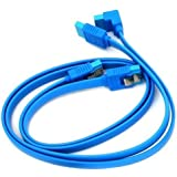2 x Gigabyte High Quality Original Light Blue SATA 3 6GB/s Cable (46cm)