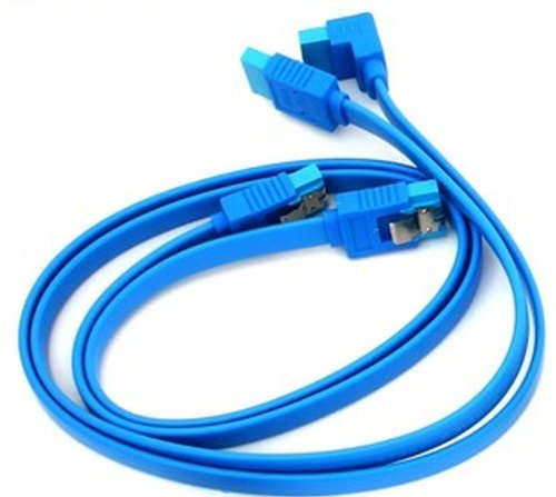 2 x Gigabyte High Quality Original Light Blue SATA 3 6GB/s Cable (46cm) Test