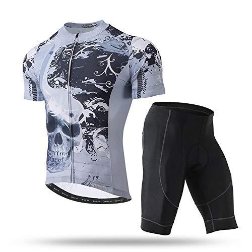 YHBHFZ Herren Sommer Kurzarm Trikot, Sportbekleidung, Wicking Und Atmungsaktiv, Schnell Trocknende Road Cycling Jersey, Fitness, Atmungsaktive Komfort, Gesichtsmuster -