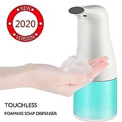 Idea Regalo - Dispenser di Sapone Automatico 400 ml con Sensore Infrarossi, Dispenser Elettrico Sapone Distributore Touchless Liquido Impermeabile per Bagno Cucina(Versione 2019)