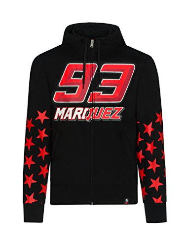 Marc Marquez 201893Herren Hoodie Hoody Jacke Rot Star Design Honda MOTOGP, Schwarz, Mens (XXL) 120cm/47 inch Chest (Honda Team Jacke)