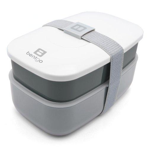 Bentgo - Bento Box inkl. Besteck (Grau) | Lunchbox | Brotdose | Kindergarten | Schule | Büro | Arbeit | Reisen