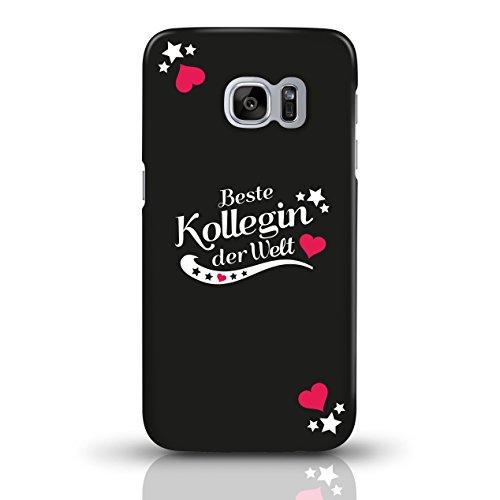 """JUNIWORDS Handyhüllen Slim Case für Samsung Galaxy S7 mit Schriftzug """"Beste Kollegin der Welt"""" - ideales Weihnachtsgeschenk für die Kollegin - Motiv 4 - Handyhülle, Handycase, Handyschale, Schutzhülle motiv 1"""