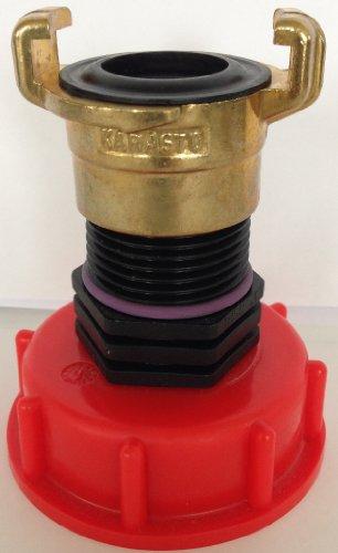 CMTech 135 + 100 Bec Adaptateur avec raccord Laiton Geka - Lave-Vaisselle, IBC Adaptateur Mamelon - Réservoir d'eau de Pluie Bidon de Accessoires de conteneurs
