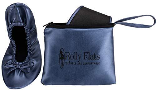 Rolly Flats Foldable Ballet, Mädchen Damen Baby Mädchen Ballett, blau - Marineblau - Größe: S 36-37 EU -