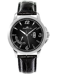 Lindberg & Sons eysse-reloj analógico de cuarzo de cuero LS15H9