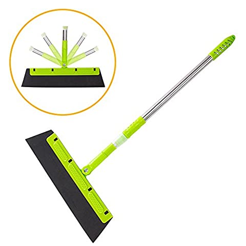 Lezed Magic Brush, Sponge Broom, 180 Degree Rotating Broom Cleaning Scraper, Glass Wiper, Swept to any Smooth Material Layer Wood Floor, Floor Tiles, Tiles, Glass, Water Stains, Hair,Dust the net.
