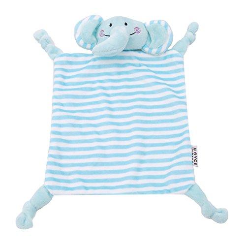 EJY Baby Weiches Schmusetuch Handtuch Plüsch Lätzchen Speichel Schmusetuch Plüschspielzeug (Blauer Elefant)