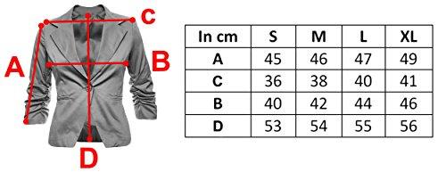 Donna Blazer Elegante Giacca Cotone Alla Moda Business Look Festa disponibile in 26 colori 34 36 38 40 42 Türkis Metallic