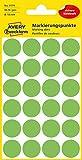 AVERY Zweckform 3174 selbstklebende Markierungspunkte (Ø 18 mm, 96 Klebepunkte auf 4 Bogen, runde Aufkleber für Kalender, Planer und zum Basteln, Papier, matt) leuchtgrün
