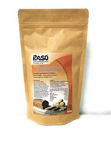 Brot - VERSANDKOSTENFREI - Brotbackmischung Dinkel - Kartoffel + Kurkuma uvm von RASO - Ohne Kneten, ohne gehen lassen (500g) - Einfach und schnell zubereitetes gesundes Brot