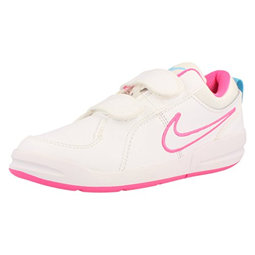 Nike Pico 4 (PSV) Unisex-Kinder Sneakers white-white-clear water-pink pow (454477-133)