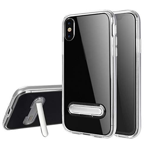 samLIKE Handyhülle für iPhone XS Max Transparent Silikon mit Magnetisch Halterung 6.5 Zoll Stoßfest Schutzhülle Rückschale [Anti-Scratch] [Kratzfeste] (Silber) - Magnetisches Iphone-halterung