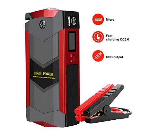 Preisvergleich Produktbild BAIQI Auto Starthilfe 2000A Spitzenstrom Autobatterie Starthilfe, 12V Tragbare Autobatterie Anlasser LED Taschenlampe 4 USB