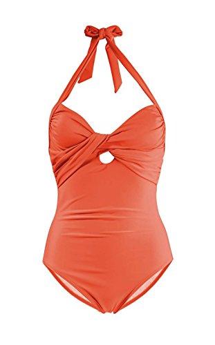 Heine Badeanzug B-Cup Orange Größe 40