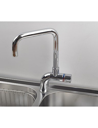 Contemporary Concise One Hole Chrome Finish Little Kitchen Faucet
