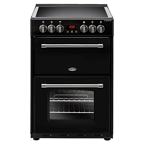 Belling Farmhouse 60EBLK in Black 4710 60cm 444444711 Freestanding Electric Cooker Best Price and Cheapest