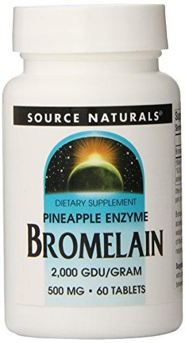 SOURCE NATURALS, Bromelain 500 mg 2000 GDU G - 60 Tabs -