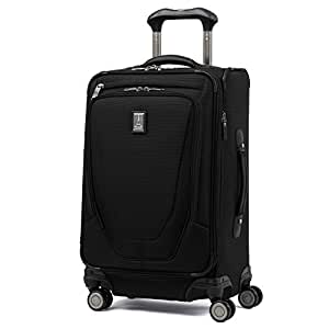 """Travelpro Crew 11 21"""" Expandable Spinner Carry On Luggage, Black"""