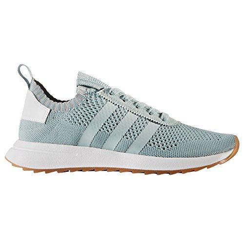 adidas Primeknit Flashback FLB weiß und grün, Laufschuhe für Damen, Sneaker, Traines. (38 EU, Tactile Green)