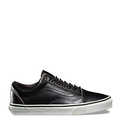 Vans Old Skool Leather Sneaker Unisex Adulto, Nero (Black/White), 47