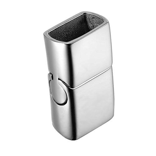 Valyria 1Edelstahl Magnetverschluss Lock Leder Verschluss Armband DIY, edelstahl, poliert, Glossy