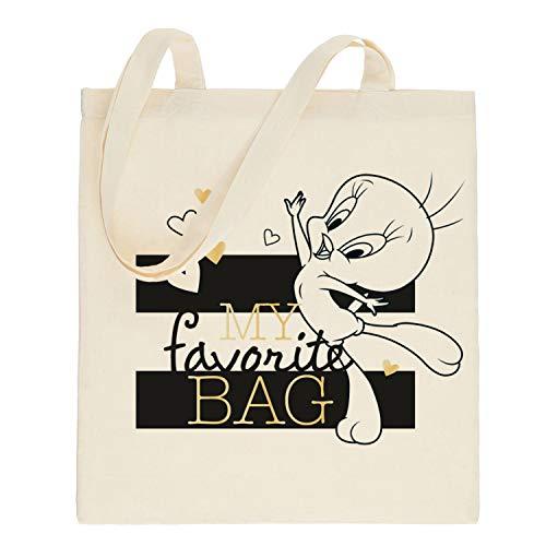 Looney Tunes Tweety - Stoffbeutel My Favorite Bag, 38 x 41 cm, Baumwolle