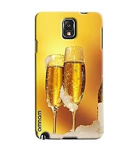 Omnam Super Chilled Beer In Glasses Printed Designer Back Case Samsung Galaxy Note 3