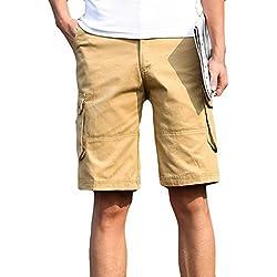 Malloom® Sommer Mode für Arbeiten Sprort uhrlaub zufällige Taschen-Strand-Arbeits-zufällige Kurze Hosen-Kurze Hosen für Männer