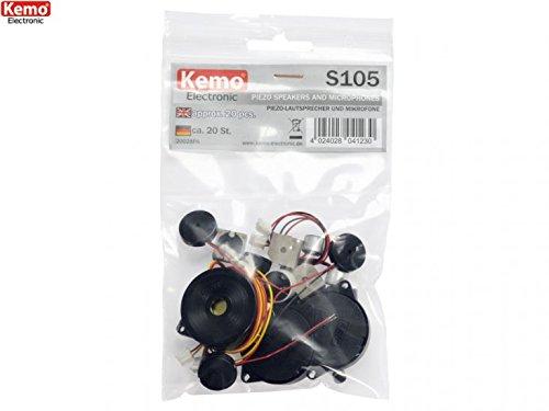 Preisvergleich Produktbild Piezo Lautsprecher und Mikrofon Sortiment ca.20 Stück Kemo S105