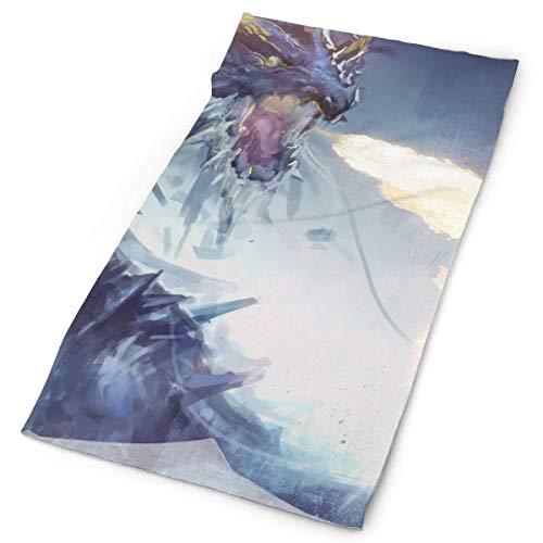 Dragon Fire-Breathing Dinosaur Painting Headband Unisex Headwrap Magic Head Scarf Bandana Headwear Neckerchief Polyester Hood Travel Headdress Scrunchie Face Mask Neck Gaiter -