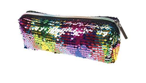 Pailetten-Tasche lang mit Reißverschluss