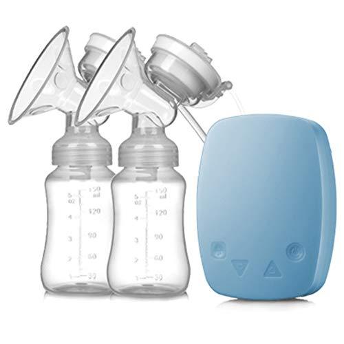 Lucun Elektrische Milchpumpe, Doppelmilchpumpe Intelligente Massage-Note USB-Lade-Melkmaschine, für...