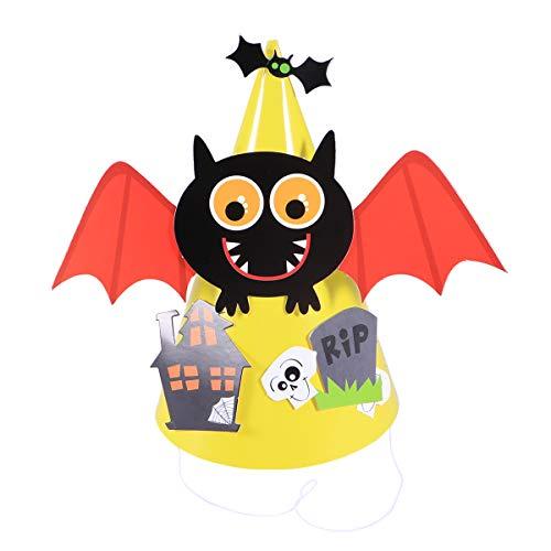 Kegel Hüte Fledermaus Papier für Kinder Party Kostüme ()