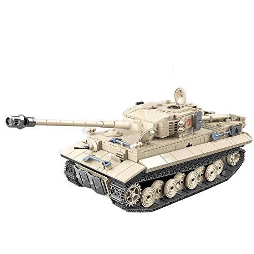 Seciie 1018 Piezas Tanque aleman WW2 Guerra Tanque