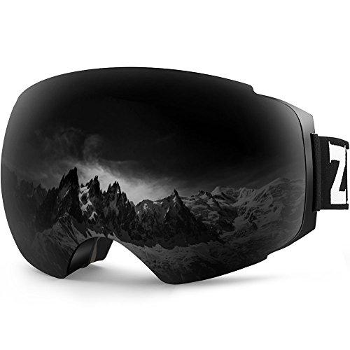 ZIONOR Occhiali da Sci, Lagopus X4 Snowboard Maschera da Sci 100% Protezione UV400 Anti Nebbia Magnetic Lenti Cambia Durevole TPU di Ventilazione Completa per Uomo Donna Adolescenti