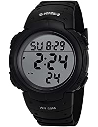 AMPM24 LED199 Reloj Hombre Digital LCD de Goma Negro