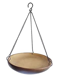 Hanging Dish Wild Bird Water Feeder or Seed Feeder - Hanging Resin Tray Garden Bird Bath Bowl