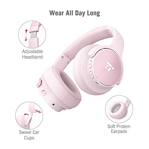 TaoTronics Active Noise Cancelling Kopfhörer 30 Stunden Bluetooth Kopfhörer, Kabelloses ohrumschließendes Headset, dualen 40 mm Treibern Kabellos Kopfhörer mit Tiefem Bass und Mikrofon - 3