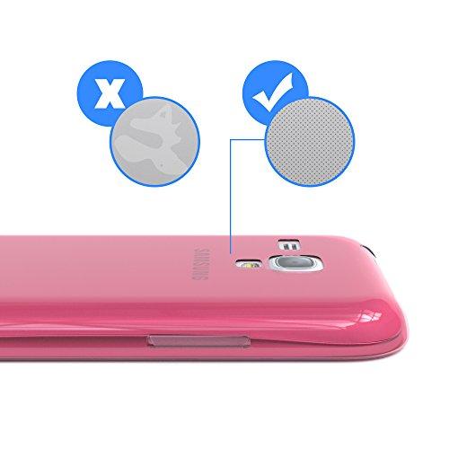 Samsung Galaxy S3 Mini Hülle - EAZY CASE Ultra Slim TPU Handyhülle - dünne Schutzhülle in Hellblau Clear Pink